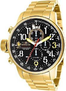 Relógio Invicta Character Collection 25009 Lançamento Banhado Ouro 18k 46mm Cronografo
