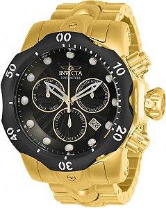 Relógio Invicta Venom 23892 Suiço Cronografo 53.7mm Banhado Ouro 18k