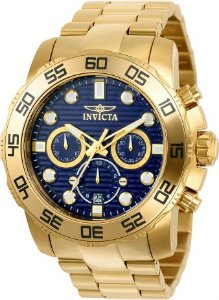 Relógio Invicta Pro Diver 22228 Banhado Ouro 18k Cronografo 50mm