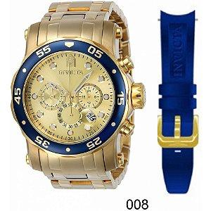 Relógio Invicta Pro Diver 23669 Troca Pulseira Cronografo 48mm