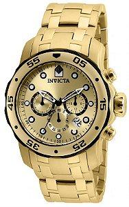 Relógio Invicta Pro Diver 80070 Cronografo 48mm Banhado Ouro 18k
