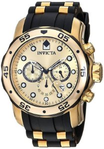 Relógio Invicta Pro Diver 17885 Cronografo 48mm Banhado Ouro 18k