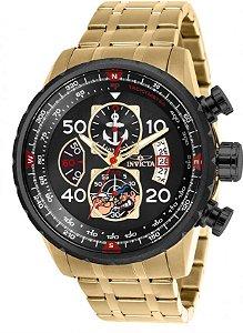 Relógio Invicta Character Collection 25152 Edição Limitada Banhado Ouro 18k Cronografo