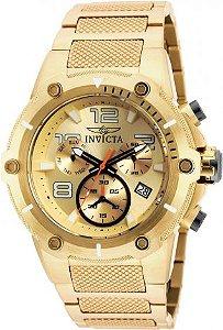 Relógio Invicta Speedway 19529 Banhado Ouro 18k Cronografo 51mm