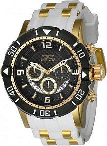 Relógio Invicta Pro Diver 23701 Pulseira Branca 50mm Cronografo