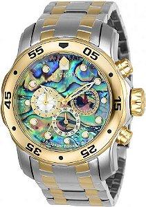 Relógio Invicta Pro Diver 24836 Aço Inox Cronografo Misto 48mm Fundo Abalone