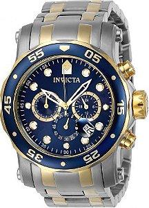 Relógio Invicta Pro Diver 23668 Troca Pulseira Aço Inox Cronografo