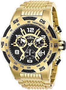 Relógio Invicta Speedway 25286 Cronografo 51mm Banhado Ouro 18k