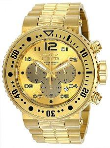 Relógio Invicta Pro Diver 25076 Cronografo 52mm B. Ouro 18k 500m