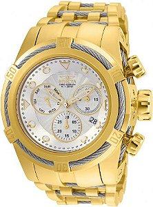 Relógio Invicta Zeus Bolt 23914 Swiss Banhado Ouro 18k Cronografo 53mm