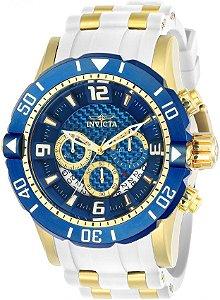 Relógio Invicta Pro Diver 23707 Cronografo 50mm Banhado Ouro 18k