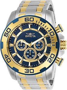 Relógio Invicta Pro Diver 26296 Banhado Ouro 18k 50mm Cronográfo W/R 100m