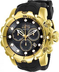 Relógio Invicta Venom Sea Dragon 26244 Lançamento 55mm B. Ouro 18k Cronográfo