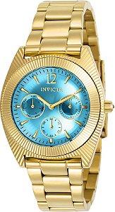 Relógio Invicta Angel Collection 23753 Feminino 38mm Banhado Ouro 18k Cronografo
