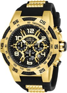 Relógio Invicta Speedway 24233 Cronografo 51mm Banhado Ouro 18k