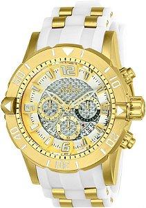 Relógio Invicta Pro Diver 24164 Cronografo 50mm Banhado Ouro 18k