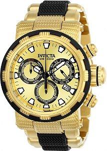 Relógio Invicta Specialty 23978 Cronografo 46mm Banhado Ouro 18k