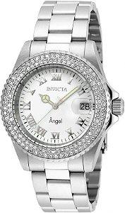 Relógio Invicta Angel Feminino 20502 Aço Inoxidável Prata 40mm W/R 200m