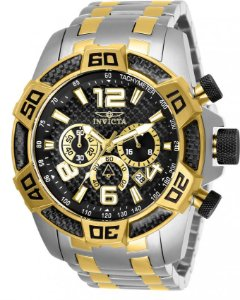 Relógio Invicta Pro Diver 25856 Cronografo 50mm Misto Aço Inox Banhado Ouro 18k