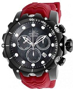 Relógio Invicta Venom Sea 26247 Cronografo 55mm Aço Inoxidável Calendário Duplo