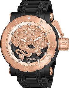 Relógio Invicta Coalition Force Dragon 26514 Automático 52mm Banhado Ouro Rose 18k