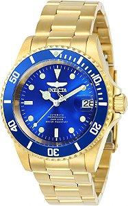 Relógio Invicta Pro Diver 24763 B. Ouro 18k Automático 40mm
