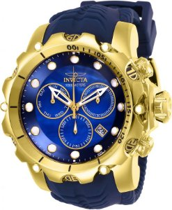 Relógio Invicta Venom Sea 26245 Banhado Ouro 18k Cronografo 55mm