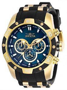 Relógio Invicta Speedway 25836 Cronografo 48mm Banhado Ouro 18k VD54