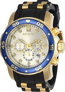 Relógio Invicta Pro Diver 17880 Cronografo 48mm Banhado Ouro 18k W/R 100m