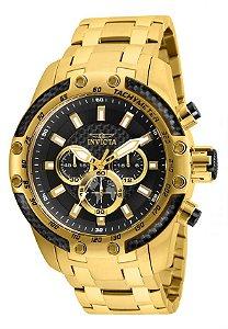 Relógio Invicta Speedway 25944 Cronografo 50mm Banhado Ouro 18k VD54