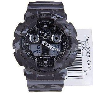 Relógio Casio G-Shock GA-100CM-8ADR Resina Masculino Digital / Analógico W/R 200m