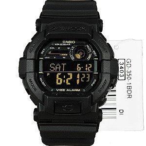 Relógio Casio G-Shock GD-350-1BDR Masculino Digital / Analógico Resina 200m