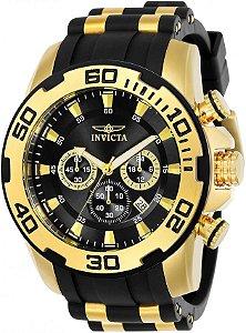 Relógio Invicta Pro Diver 22340 Cronografo 50mm Banhado Ouro 18k 100m
