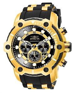 Relógio Invicta Bolt 26751 Lançamento 51.5mm Cronografo Banhado Ouro 18k VD53