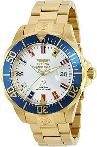 Relógio Invicta Pro Diver 21325 Grand Automático NH35A B. Ouro 18k