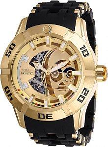 Relógio Invicta Star Wars 26550 Banhado Ouro 18k Automático 50mm