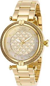 Relógio Invicta Bolt Lady 28927 Dourado 38mm Banhado Ouro 18k