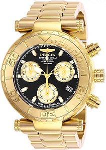Relógio Invicta Subaqua 25800 Banhado Ouro 18k Calendário Duplo Z60 Swiss