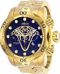 Relógio Invicta Venom 27763 Reserve Banhado Ouro 18k Swiss 53.7mm Cronografo