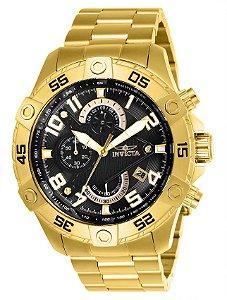 Relógio Invicta S1 Rally 26097 Banhado Ouro 18k Cronografo 48mm