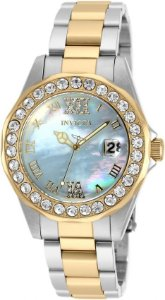 Relógio Invicta Sea Base 20393 Feminino 38mm Banhado Ouro 18k