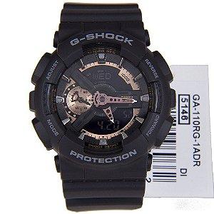Relógio Casio G-Shock GA-110RG-1A Preto Masculino Digital / Analógico W/R 200m