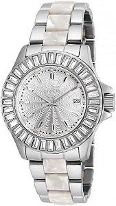 Relógio Invicta Angel Feminino 18874 Aço Inoxidável Prata 38mm W/R 100m