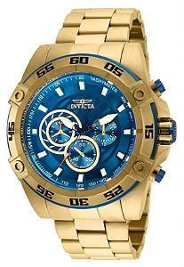 Relógio Invicta Speedway 25536 Cronografo 52mm Banhado Ouro 18k VD54