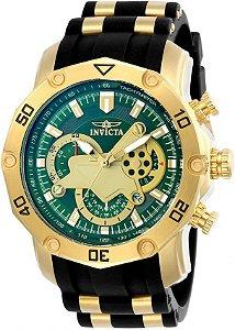 Relógio Invicta Pro Diver 23425 Banhado Ouro 18k Cronografo 50mm