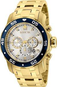 Relógio Invicta Pro Diver 80067 Cronografo 48mm Banhado Ouro 18k