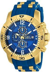 Relógio Invicta Pro Diver 24966 Banhado Ouro 18k Cronografo 50mm