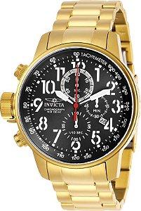 Relógio Invicta Force 28745 Cronografo 46mm Banhado Ouro 18k