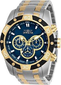 Relógio Invicta Speedway 25843 Cronografo 48mm Banhado Ouro 18k VD54
