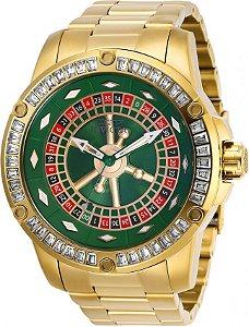 Relógio Invicta Specialty Casino 28713 Automático 52mm Banhado Ouro 18k